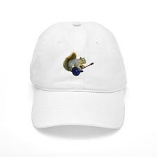 Squirrel with Blue Guitar Cap