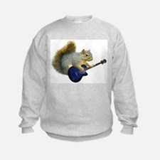 Squirrel with Blue Guitar Sweatshirt