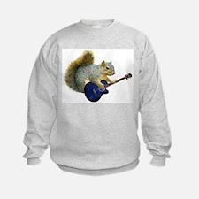 Squirrel with Blue Guitar Sweatshirt