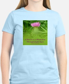 T-Shirt: Flower-Weed