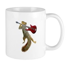 Squirrel Red Guitar Small Mug