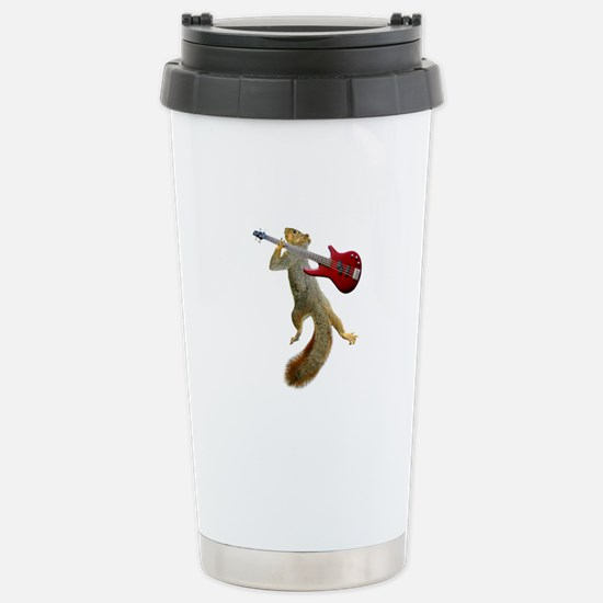 Squirrel Red Guitar Stainless Steel Travel Mug