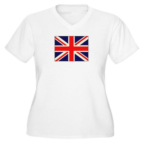 British flag Women's Plus Size V-Neck T-Shirt