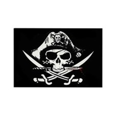 Jolly Roger Pirate Flag Rectangle Magnet