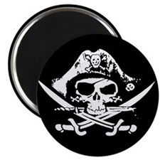 Pirate Jolly Roger Flag Skull Crossbones Magnet