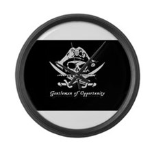 Large Pirate Flag Jolly Roger Wall Clock