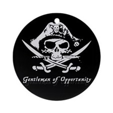 Gentleman of Opportunity Pirate Ornament (Round)