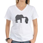 mutual understanding Women's V-Neck T-Shirt