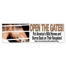 Open the Gates! Bumper Bumper Sticker