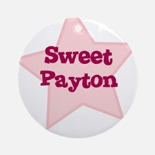Sweet Payton Ornament (Round)