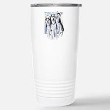 Three Huskies Travel Mug