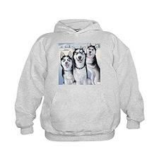 Three Huskies Hoodie