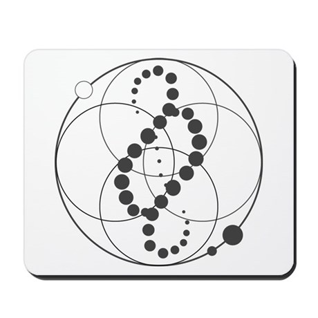 Analemma Crop Circle Graphic Mousepad