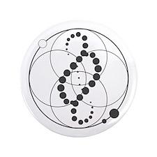 "Analemma Crop Circle Graphic 3.5"" Button"