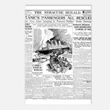 Syracuse Herald, Passengers All Rescued! Postcards