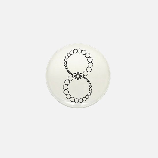 Analemma Crop Circle Graphic Mini Button