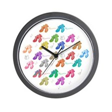 Colors and flamenco shoes Wall Clock