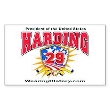 Warren G Harding Rectangle Decal