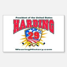 Warren G Harding Rectangle Decal
