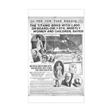 New York Herald Rectangle Sticker