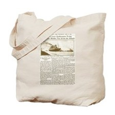 Titanic Leaves Southhampton To-Day Tote Bag