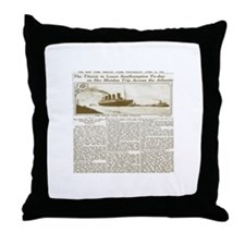 Titanic Leaves Southhampton To-Day Throw Pillow