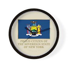 New York Proud Citizen Wall Clock