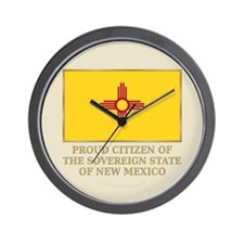 New Mexico Proud Citizen Wall Clock