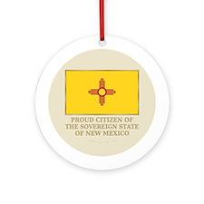 New Mexico Proud Citizen Ornament (Round)