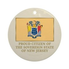 New Jersey Proud Citizen Ornament (Round)
