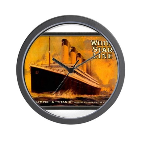 White Star Titanic Wall Clock