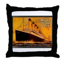 White Star Titanic Throw Pillow