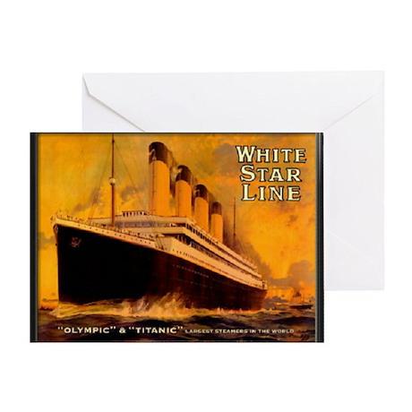 White Star Titanic Greeting Card