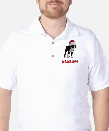 Naughty Boston Terrier Golf Shirt