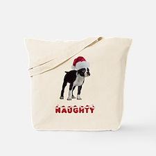 Naughty Boston Terrier Tote Bag