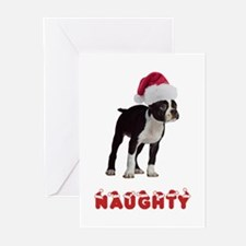 Naughty Boston Terrier Greeting Cards (Pk of 10)