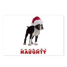 Naughty Boston Terrier Postcards (Package of 8)