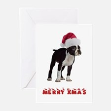 Boston Terrier Christmas Greeting Cards (Pk of 20)