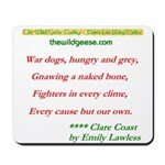 """""""Every cause but .."""" poem - Mousepad"""