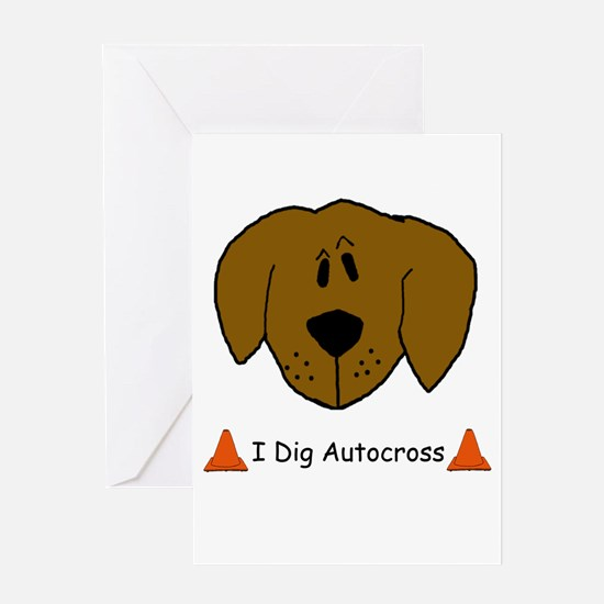 I Dig Autocross Greeting Card