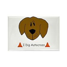 I Dig Autocross Rectangle Magnet (10 pack)