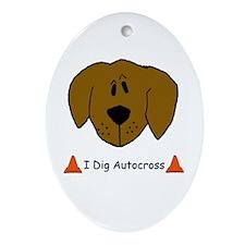 I Dig Autocross Oval Ornament
