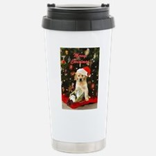Golden retriever and kittens Stainless Steel Trave