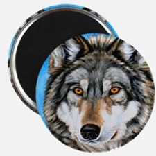 Painted Wolf Magnet
