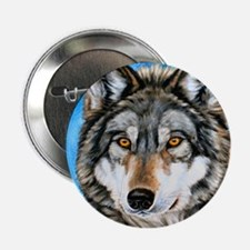 """Painted Wolf 2.25"""" Button"""