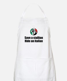 Save a Stallion Ride an Italian BBQ Apron