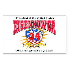 Dwight Eisenhower Rectangle Decal