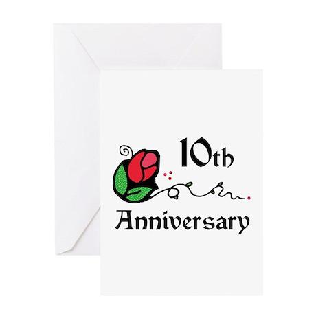 10th Greeting Card
