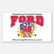 Gerald Ford Rectangle Decal