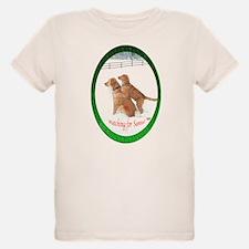 Santa Watching Golden T-Shirt